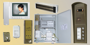 408R-403-460/4 MULTI-APARTMENT VIDEO DOORPHONE SET